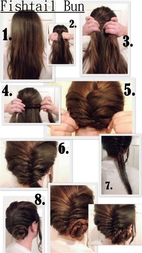 easy to make bun hairstyles 5 cute and easy fishtail braid hairstyles popular haircuts