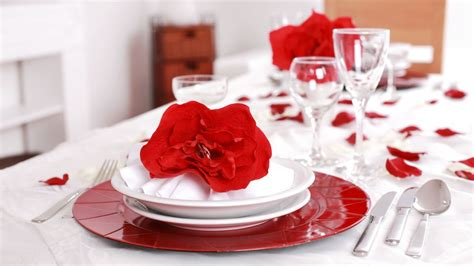 decoracion romantica decoraci 243 n rom 225 ntica para mesas rojo y blanco