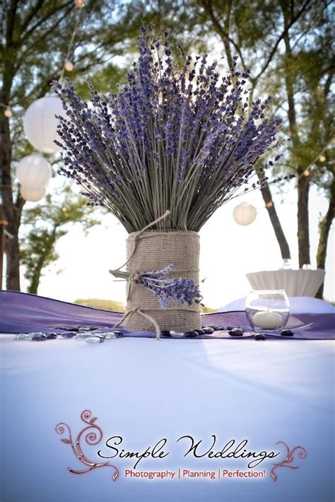 Pin By Simple Weddings On Wedding Reception Table Settings Lavender Centerpieces For Weddings
