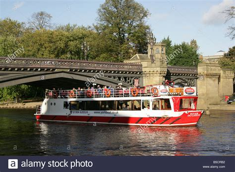 the boat on the river city of york england a yorkboat river cruise boat on the
