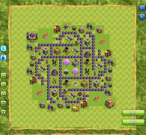 base layout yang baik susunan formasi base town hall 7 terbaik di clash of clans