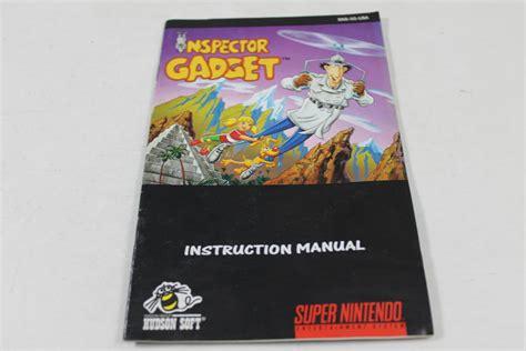 Manual Inspector Gadget Snes Super Nintendo