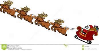Cartoon santa sleigh and reindeer santa s sleigh cartoon stock