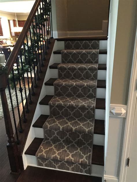 Replacing Banisters Splashy Tuftex Trend Bound Carpet Open Stairs Stair