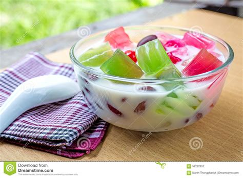 Jelly Jelly Thailand thailand dessert thai foods mixed coconut milk and jelly stock image image of coconut thai