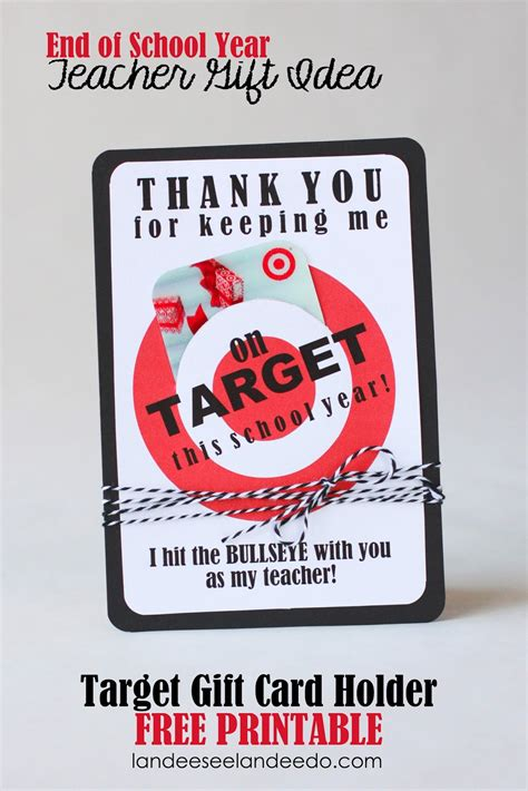 Target Gift Card Printable - teacher gift idea printable target gift card holder landeelu com