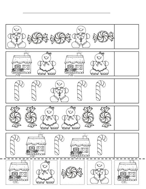 christmas pattern worksheets the 93 best images about gingerbread man on pinterest