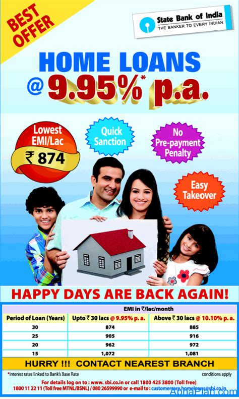 sbi house loans lowest home loan rates from sbi
