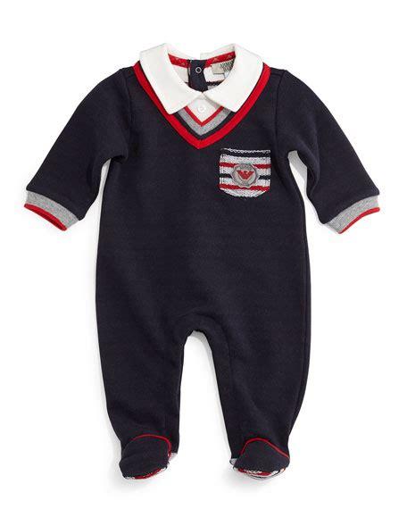 Cotton Pajamas Size 3 by Armani Junior Cotton Illusion Footie Pajamas Midnight