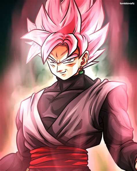 Imagenes De Goku Rose | rose black goku dragonball super by tomislavartz on