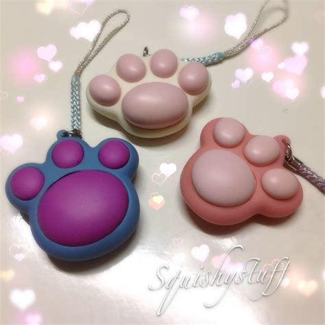 Squishy Licensed Purple Eggplant Original squishystuff licensed cat paws squishy