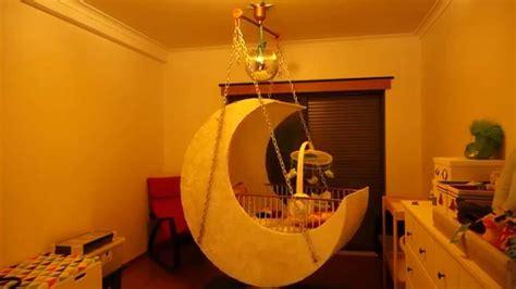 Moon Cot Baby Cradle Rainbow - moon baby crib