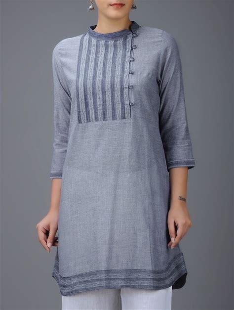 blue kurta pattern buy blue embroidered mandarin collar cotton kurta online