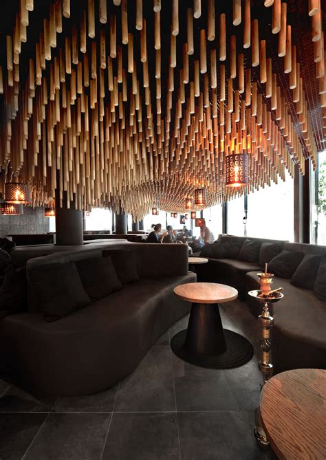 lounge decor parametric and meet together in hookah bar by kman studio in sofia