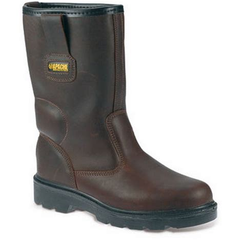 in rigger boots apache ap305 brown leather rigger water resistant boots