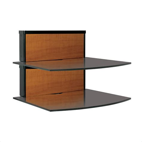 Tv Mount Shelf System by Bello Two Shelf Finish Comp Wall System Tv Mount