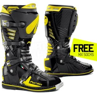 forma motocross boots forma predator boot black yellow dirtbikexpress