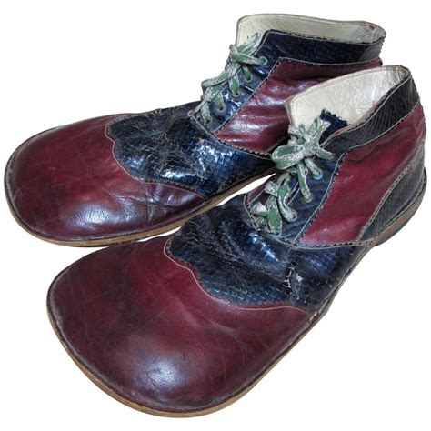clown slippers vintage formal clown shoes at 1stdibs