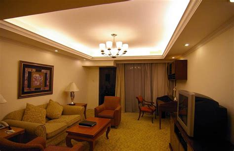 cove ceiling lighting idea  simple living room design