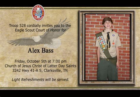 eagle scout invitation template eagle court invitations invitations ideas