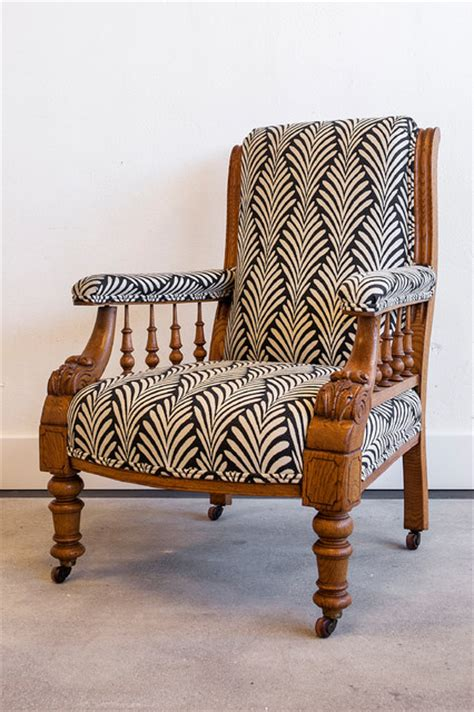 Antique Chair Upholstery by Horatio Antique Library Chair Newly Upholstered