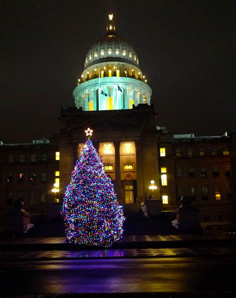 idaho s christmas tree at the state capitol building tim