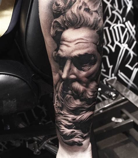 greek statue tattoo made by aaronreed tattoos for bookings and enquiries
