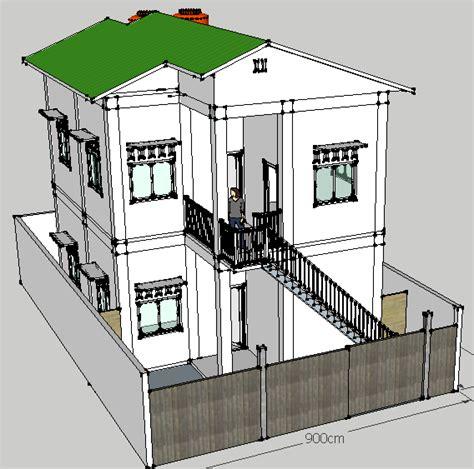 tutorial gambar rumah dengan sketchup desain sketchup