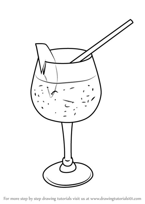 cocktail drawing learn how to draw a cocktail glass drinks by