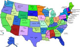 united states map names united states map with capitals and state names vector