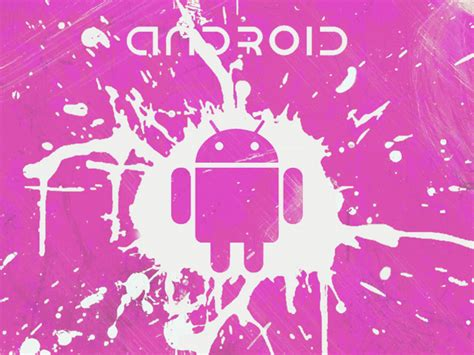 wallpaper android pink android splash pink google skins android splash pink