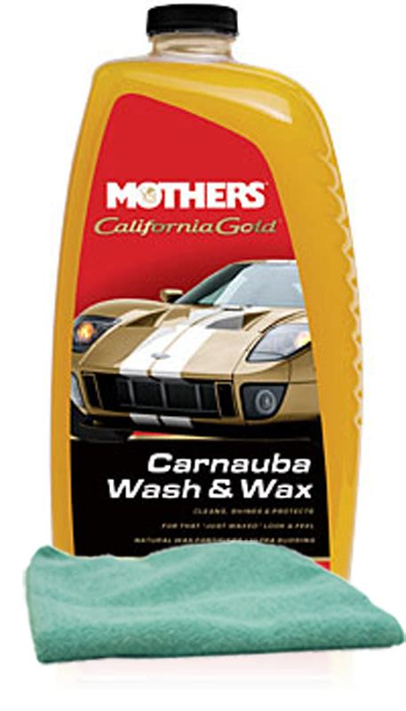 How To Remove Wax From Microfiber by Mothers California Gold Carnauba Wash Wax 64 Oz