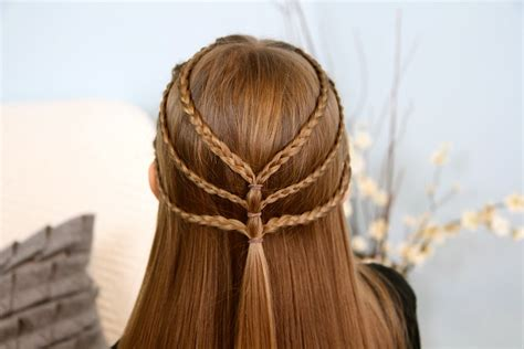 easy triple braided hairstyle babes in hairland triple braided tieback bohemian hairstyles cute girls