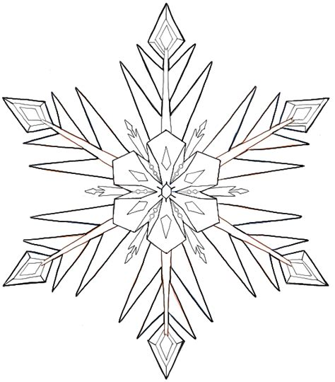 frozen coloring pages snowflakes how to draw snowflakes from disney frozen movie with easy