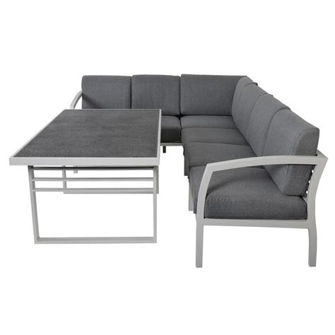 sofa table set st lucia 6 seat aluminium garden furniture sofa dining