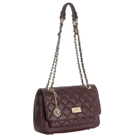 Chain Quilted Shoulder Bag lyst dkny gansevoort quilted chain shoulder bag in purple