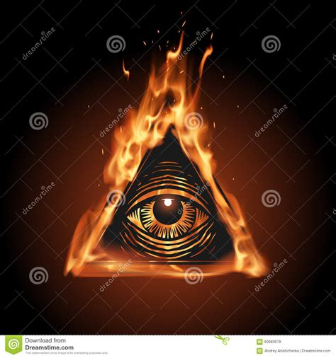 all seeing eye in the all seeing eye in stock vector image 60683679