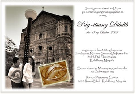 wedding invitation wording tagalog wedding and marriage guide in manila tagalog wedding