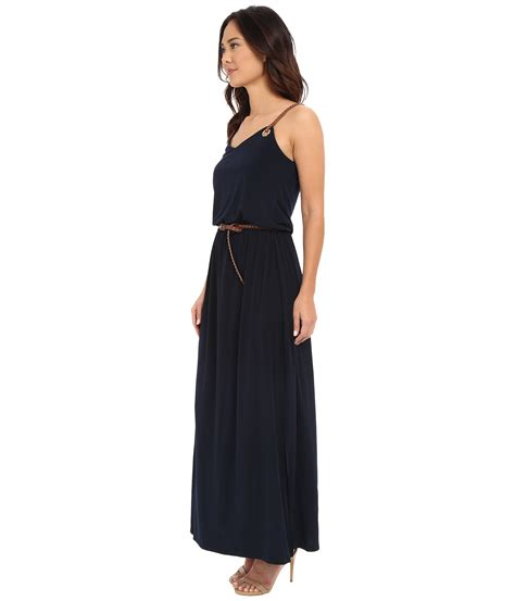 Selendang Michael Kors Original Mk Stripes Scarf Pink michael michael kors grom leather stripe maxi in blue lyst