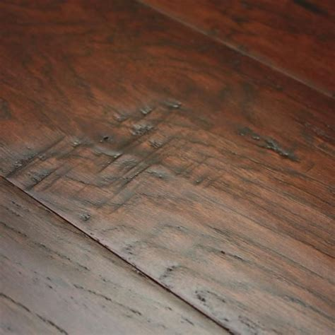 hickory coffee 3 8 x 5 quot hand scraped engineered hardwood flooring our floors pinterest