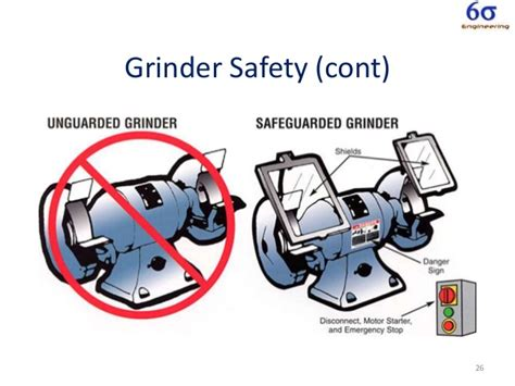bench grinder safety rules machine safe guarding training by julian kalac