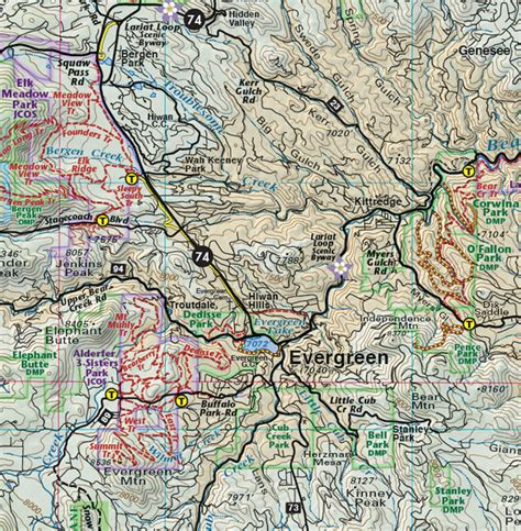 colorado jeep trail maps front range trails colorado recreation topo map