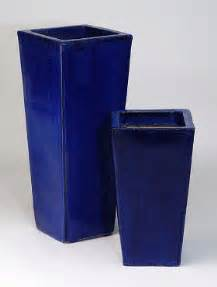 blue ceramic planters and plant containers uk