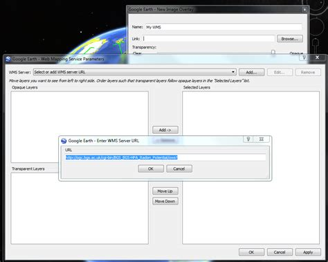 link geoserver wms layer  google earth