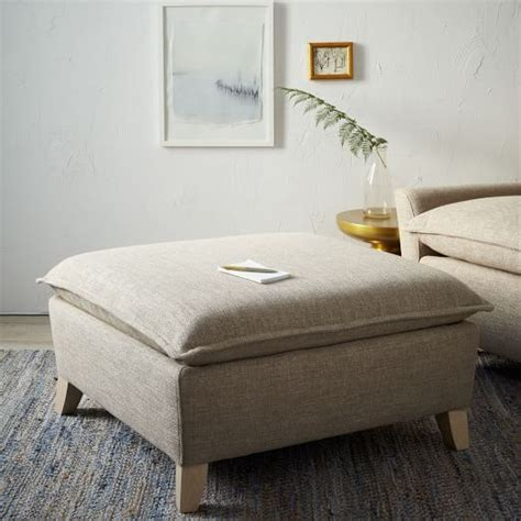 west elm chair with ottoman bliss down filled ottoman west elm