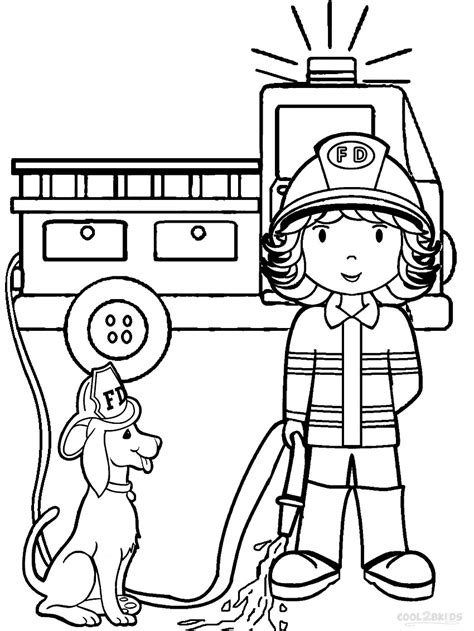 Thank You Fireman Coloring Pages by Fireman Coloring Pages Getcoloringpages