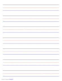 handwriting lines template penmanship paper 7 colored lines landscape free