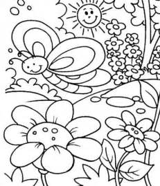coloring pages coloring spring for kids coloring pages
