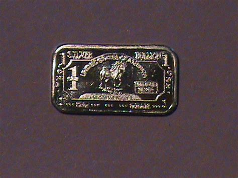 1 Gram 999 Silver Bar by 1 Gram Silver Bullion Bar 999