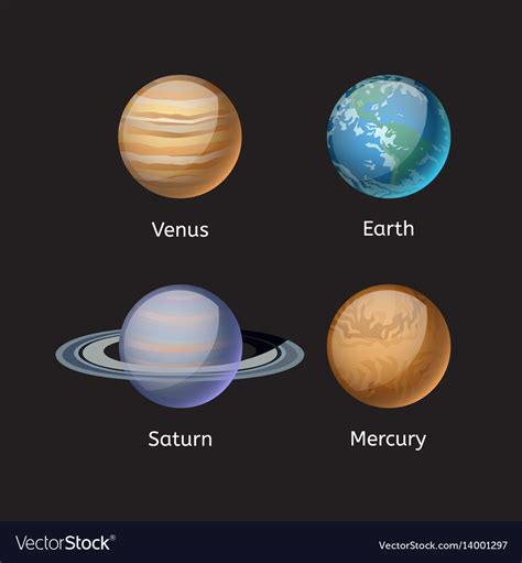 high quality solar systems high quality solar system planet galaxy astronomy vector image